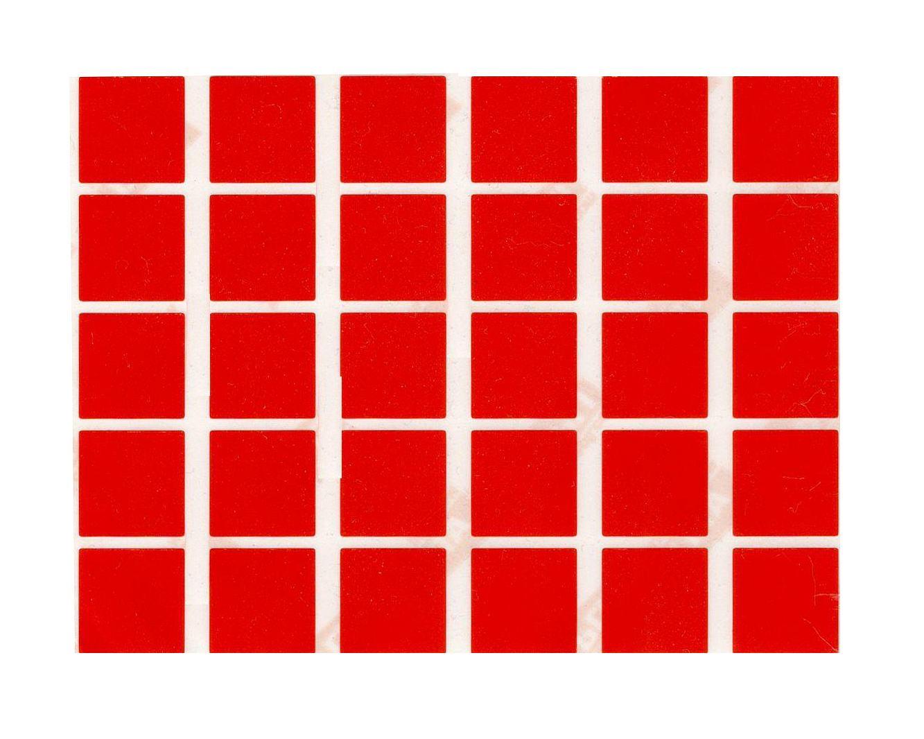 30 gommettes carrées Rouges