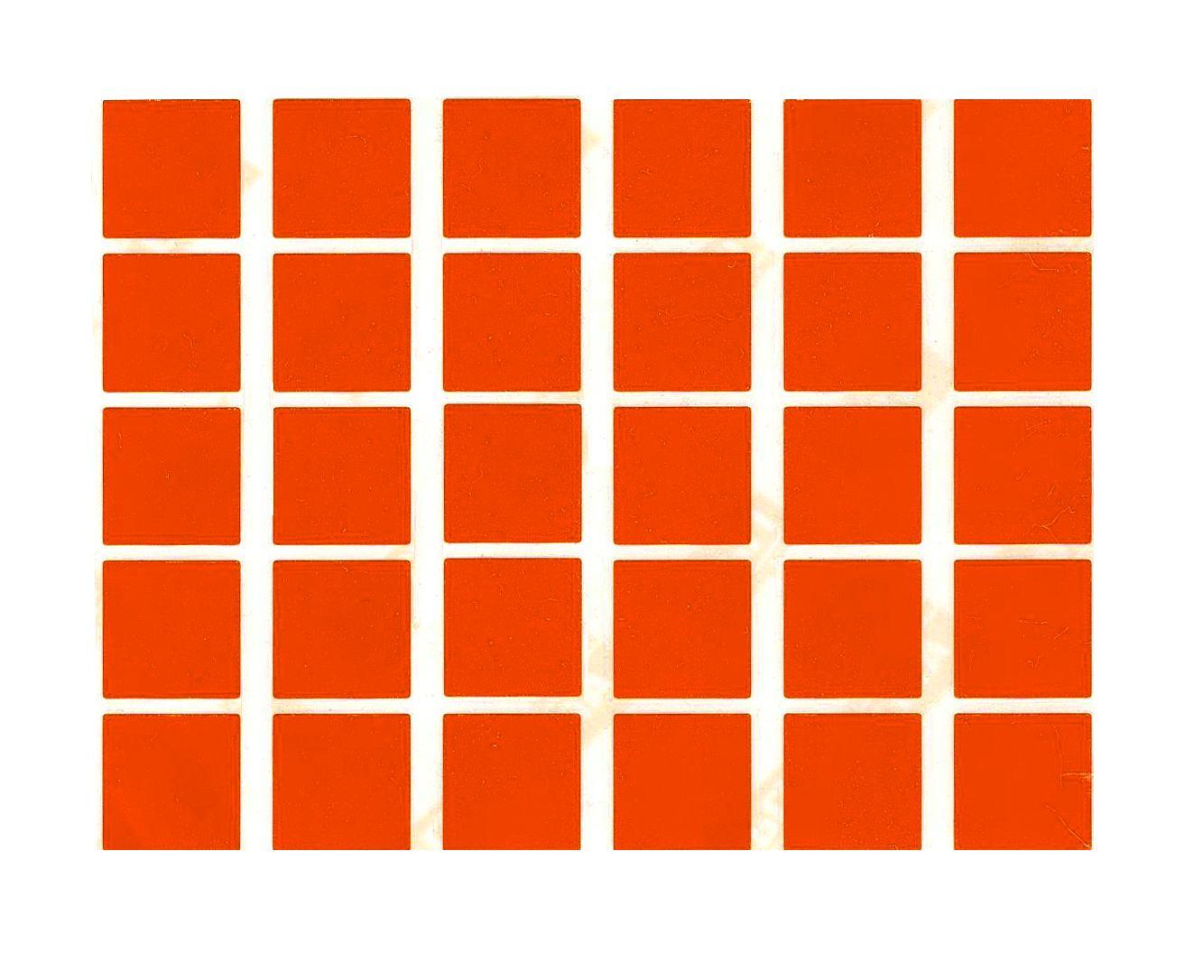 30 gommettes carrées Orange
