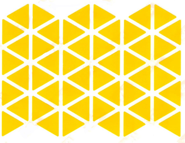 48 gommettes triangle 2x2cm jaune