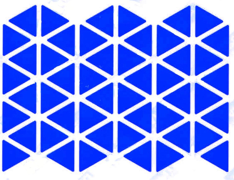 48 gommettes triangle bleu 2cm