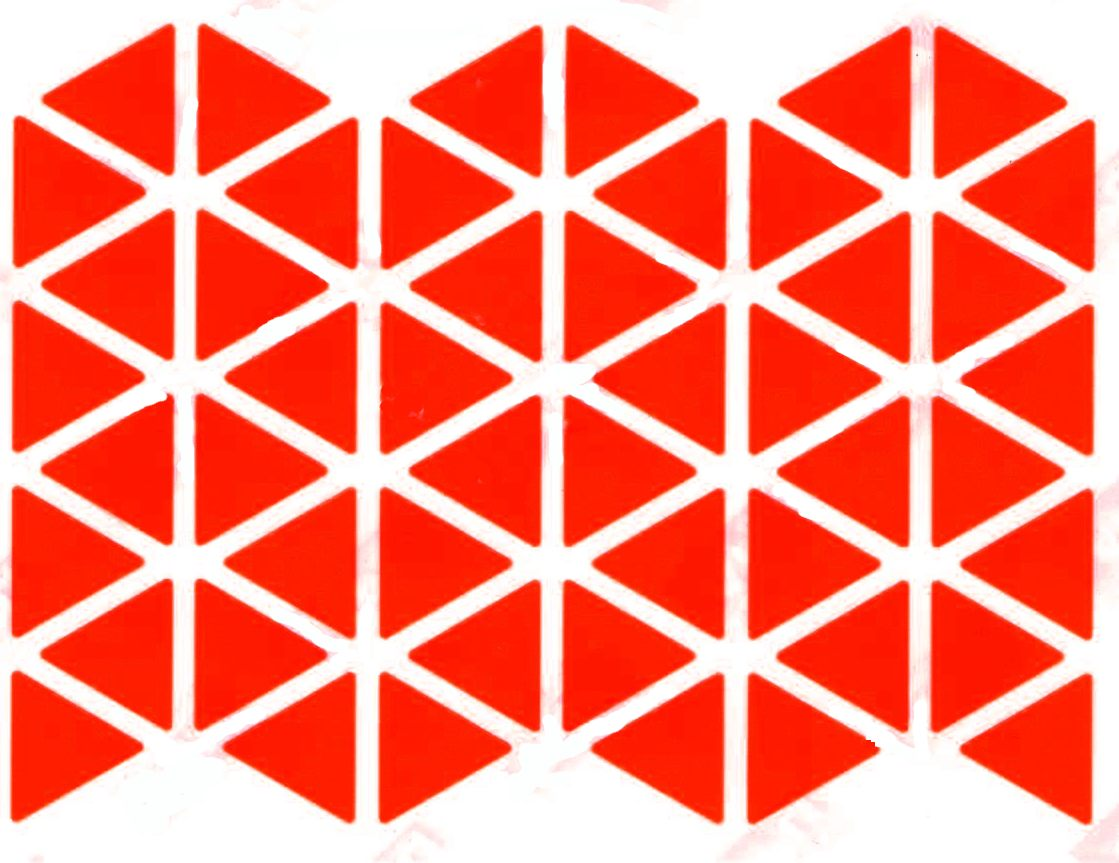 48 gommettes triangles rouge 2x2cm