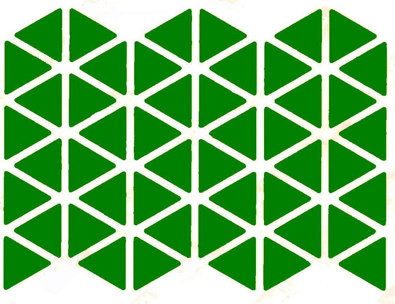 48 triangles autocollant vert 2cm