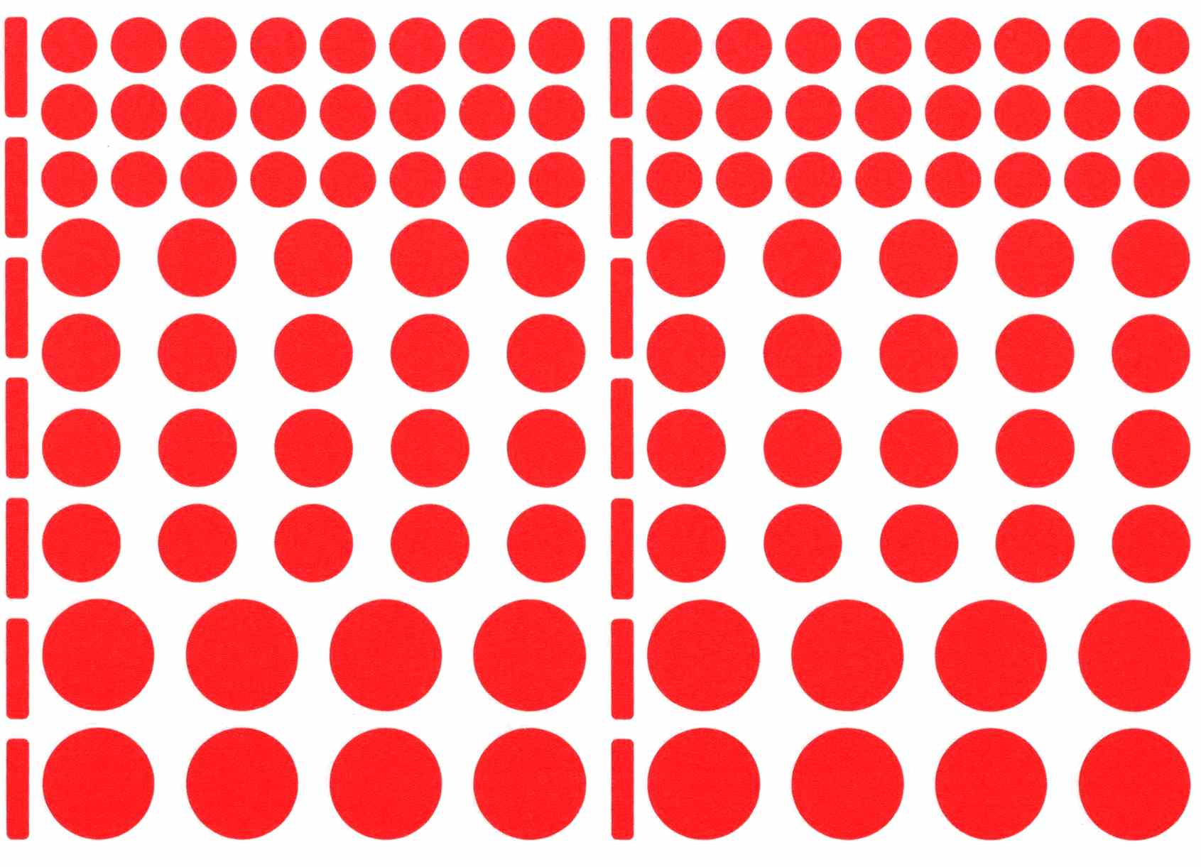 104 gommettes rondes rouge