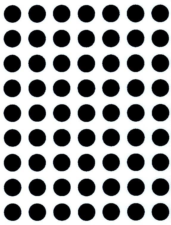 88 Gommettes rondes 10 mm Noir