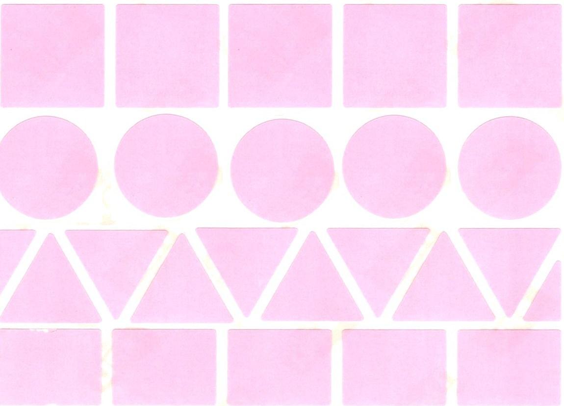 23 Grosses Gommettes Géométrique Rose