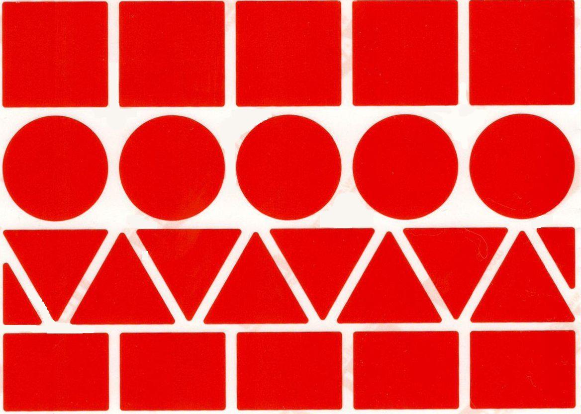 23 Gommettes XL Géométrique Rouge