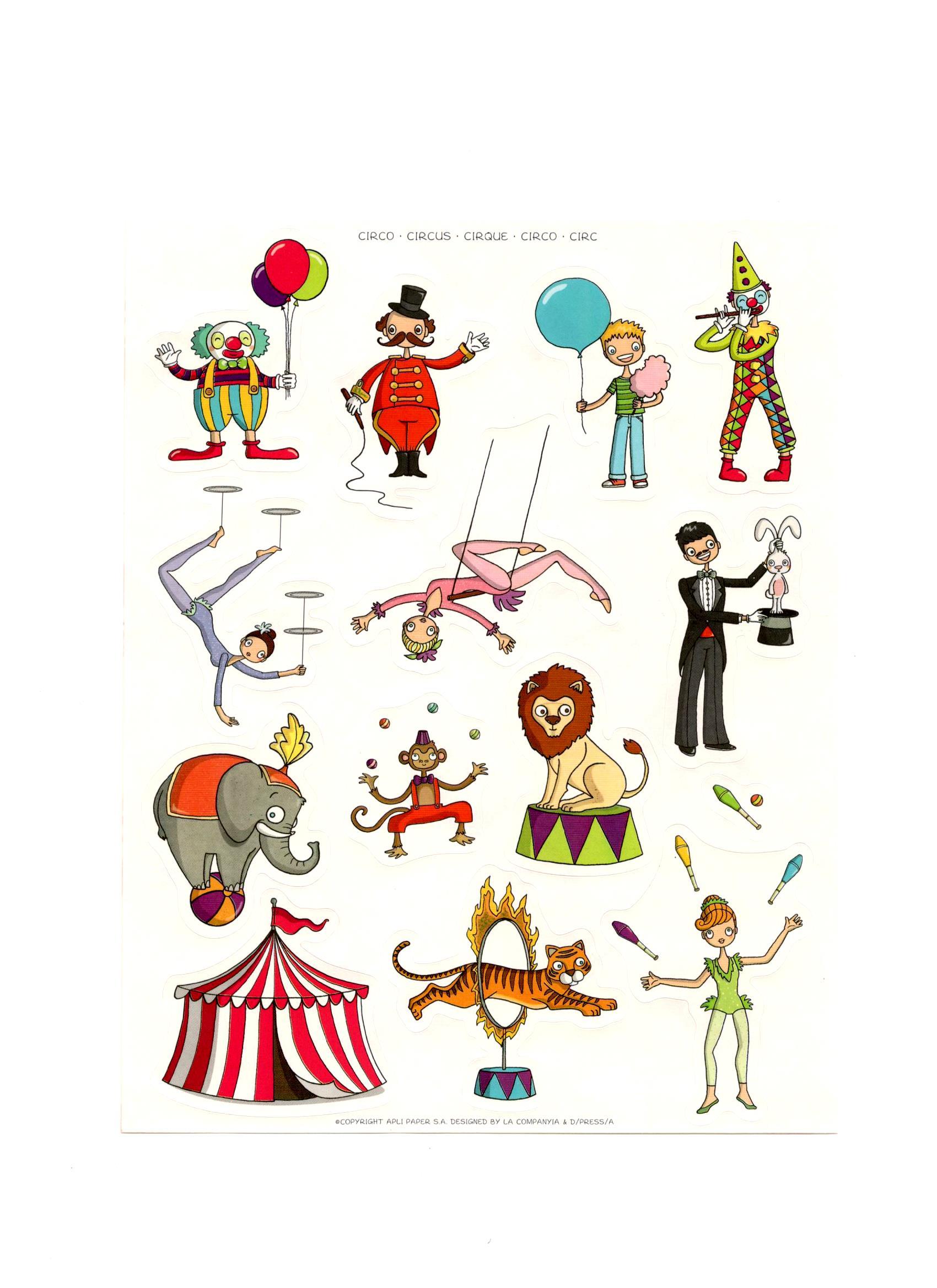 Gommettes Le Cirque