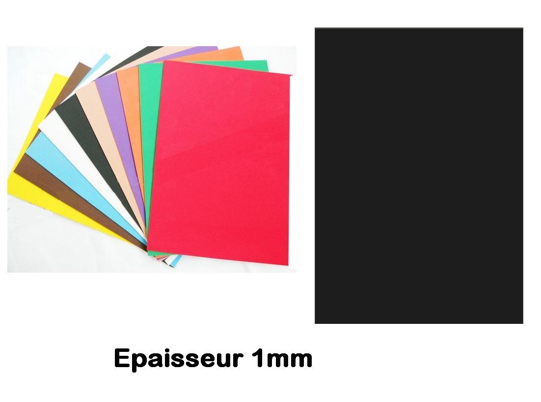 Feuille mousse EVA 1 mm 24 X 24 cm Noir