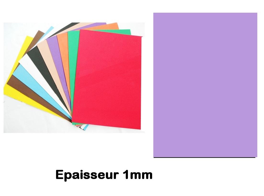 Feuille Mousse EVA 1 mm 24 X 24 cm Mauve