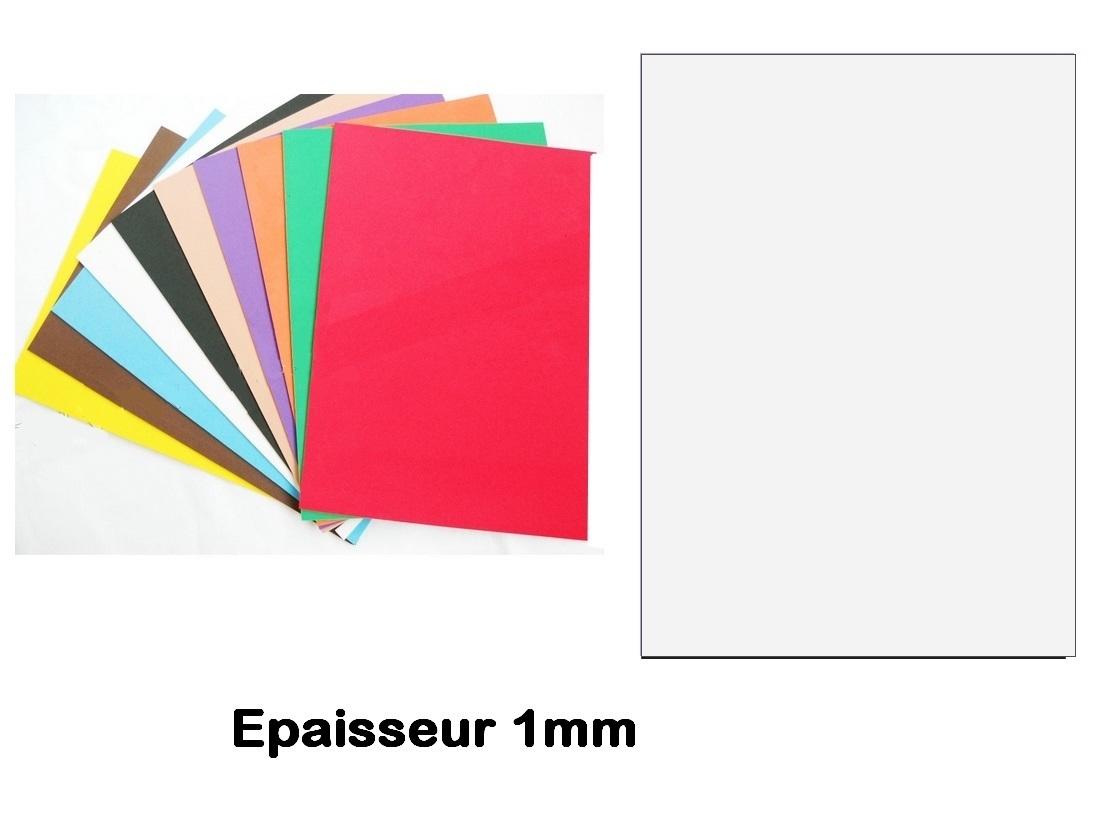 Feuille Mousse EVA 1 mm 24 x 24 mm Blanc