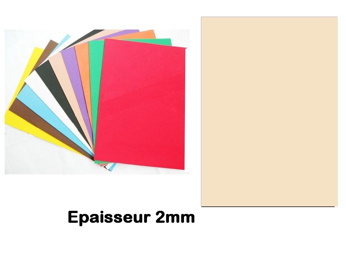 Feuille mousse EVA A4 2 mm Peau clair