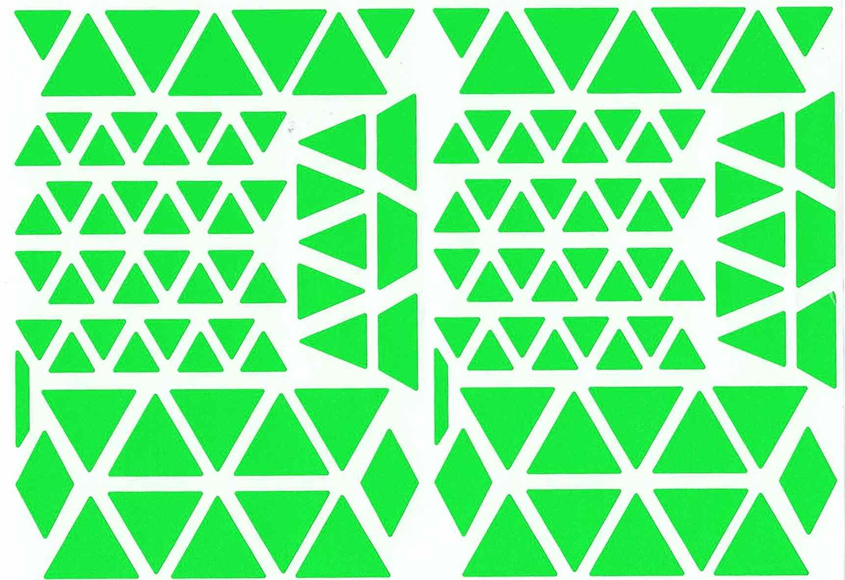 120 Triangles Autocollants Verts