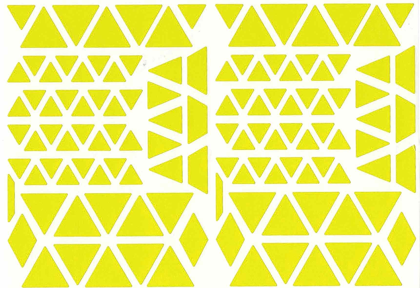 Gommettes triangles jaune
