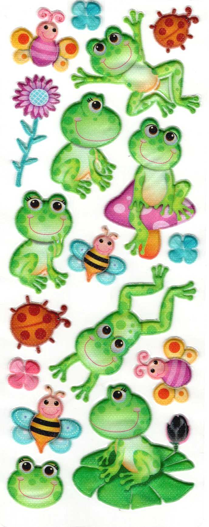 gommettes epaisses 3d grenouille 22cm x 9cm gommettes enfants gommettes animaux magommette. Black Bedroom Furniture Sets. Home Design Ideas