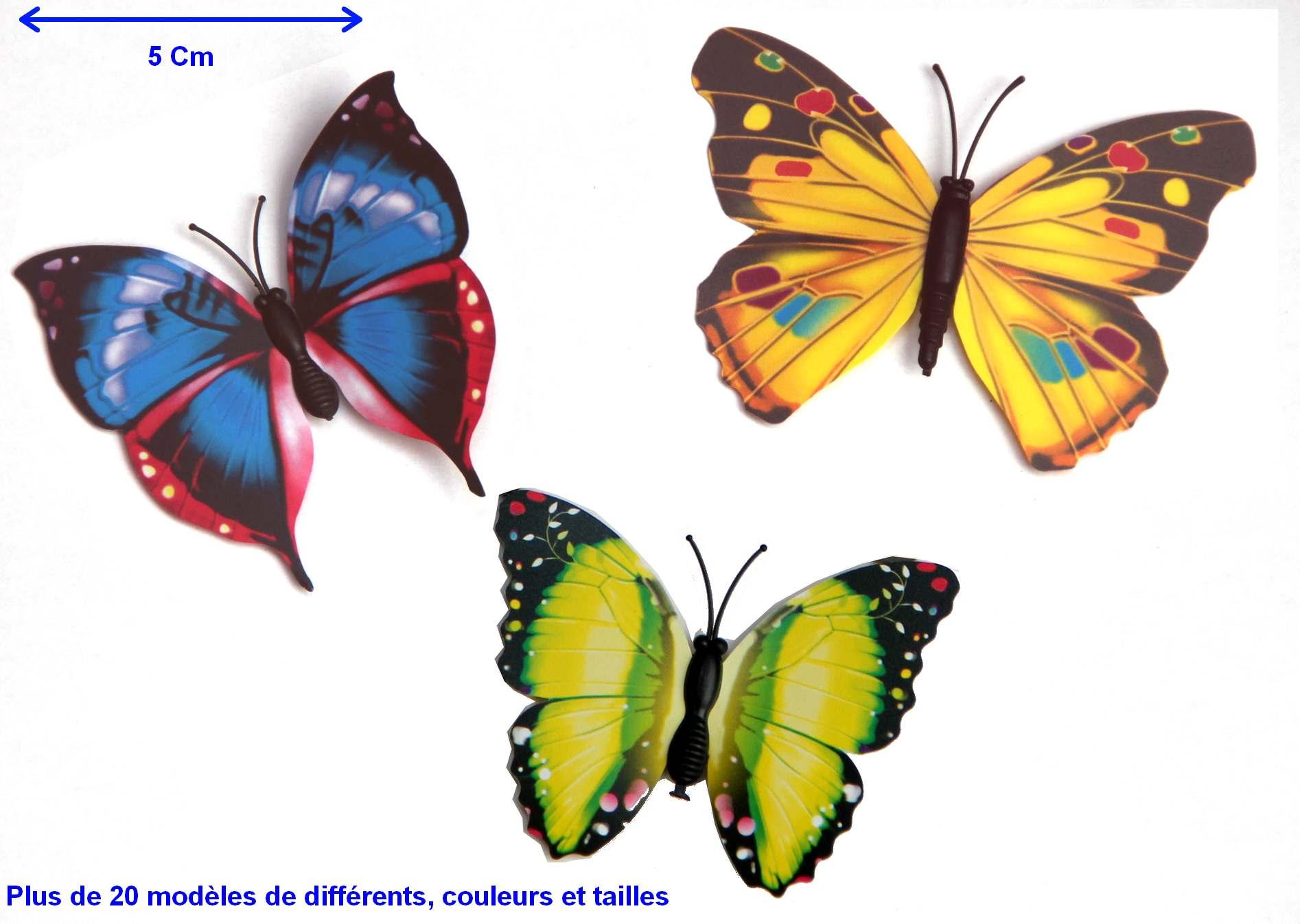 Lot de 3 papillons magn tiques 6 9 cm loisirs cr atifs sequins et embellissements magommette - Images de papillon ...