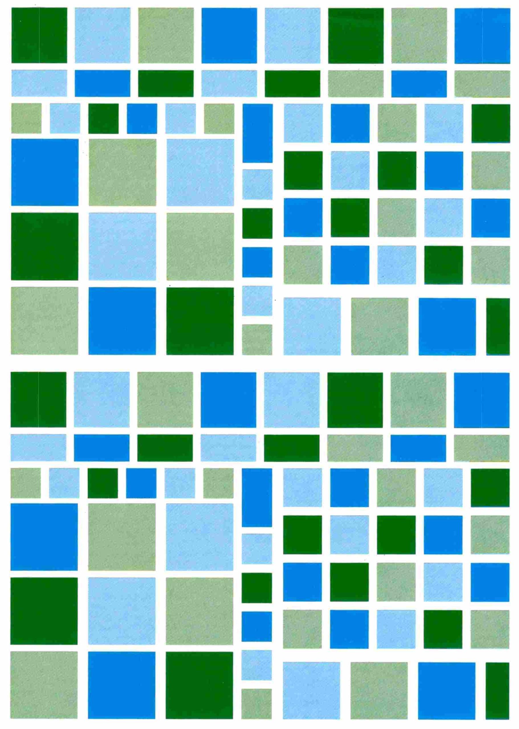 104 gommettes mosaique bleu vert