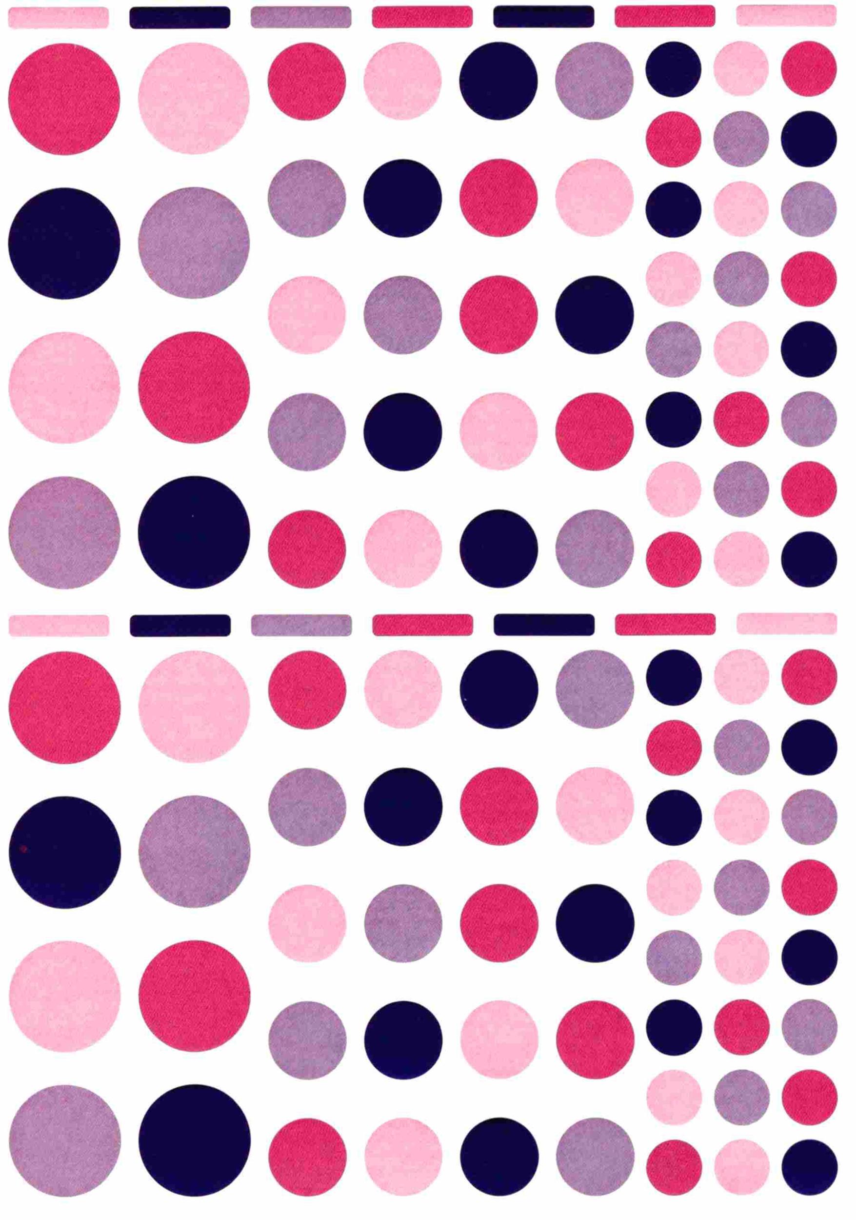 118 gommettes rondes multitailles Camaieu Pink Party