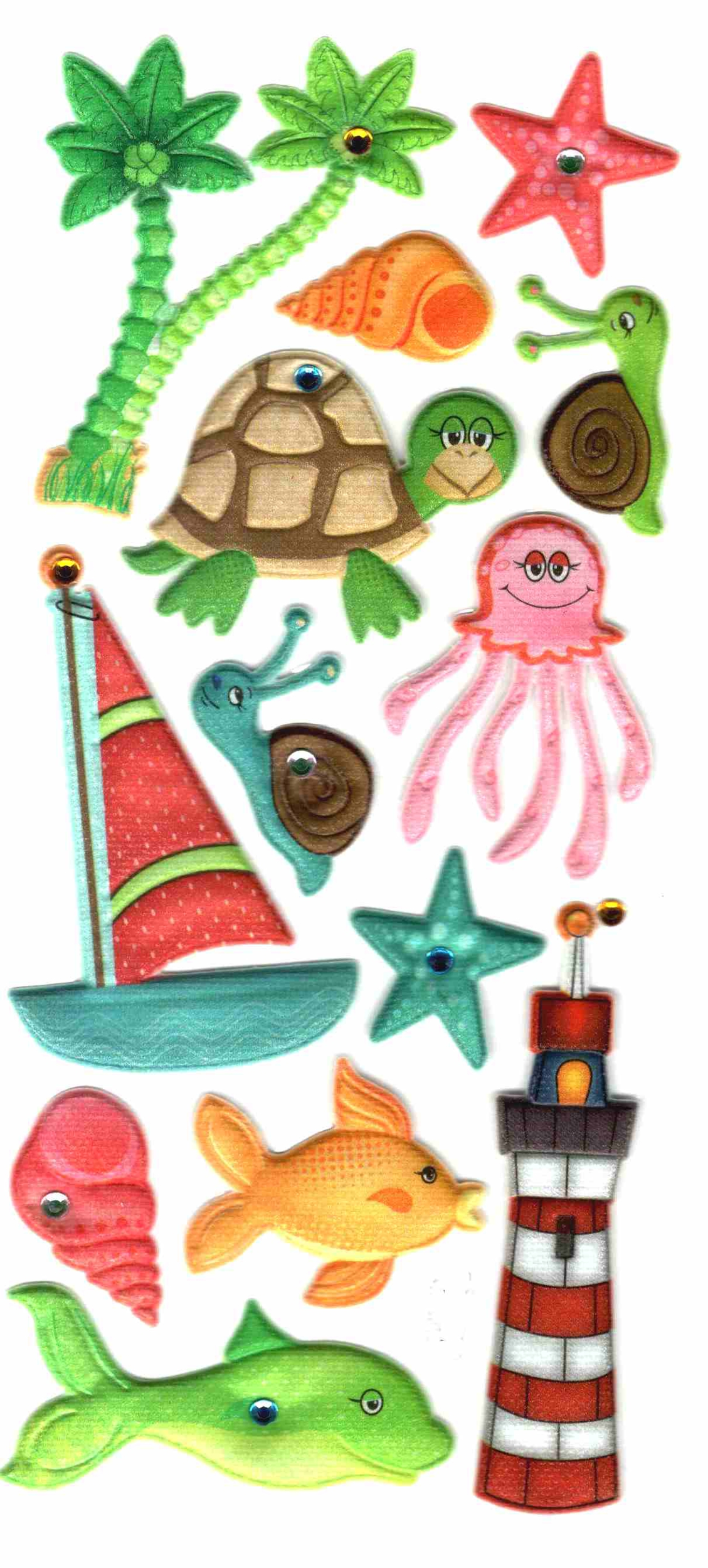 Stickers 3D Rivage Tropical