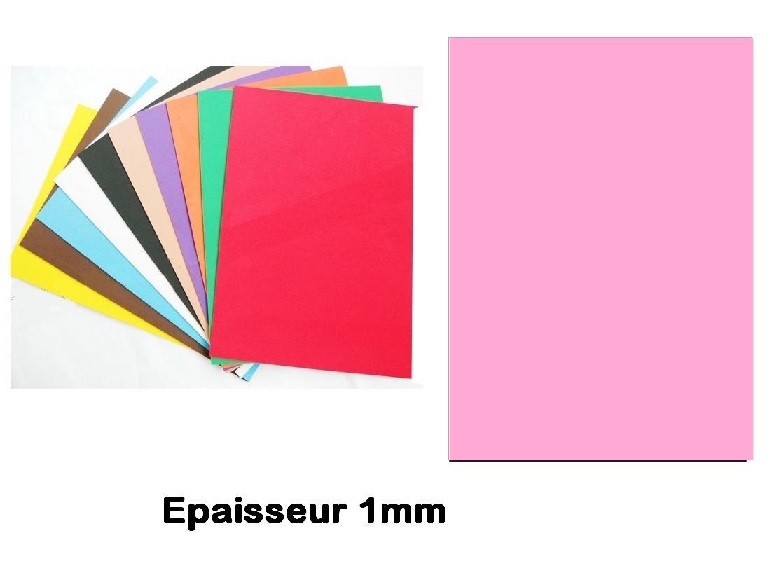 Feuille mousse EVA 1 mm 24 cm X 24 cm Rose Layette