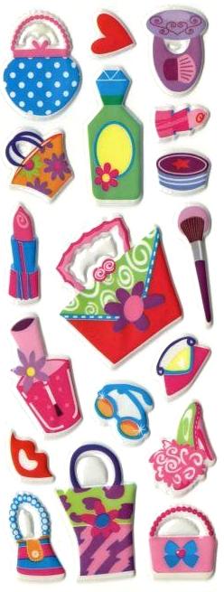 Stickers 3D Mon sac de Fille