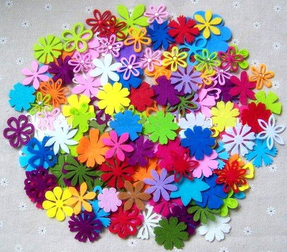 Fleurs feutrine