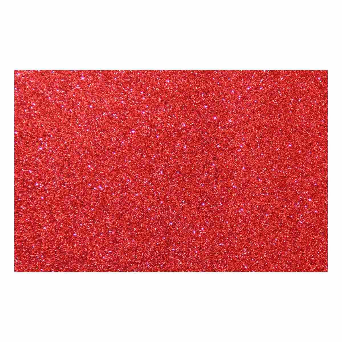 Feuille mousse EVA Paillettes A4 2 mm Rouge