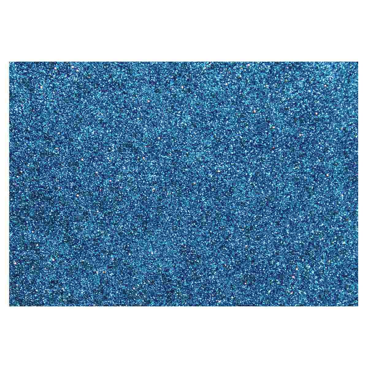Feuille mousse EVA Paillettes Bleu 2 mm A4