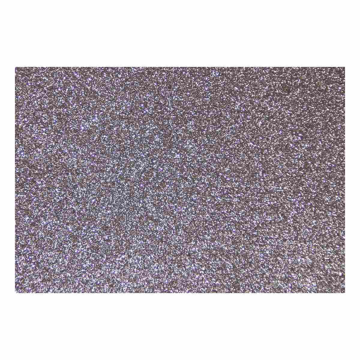 Feuille mousse EVA Paillettes A4 2 mm Argent