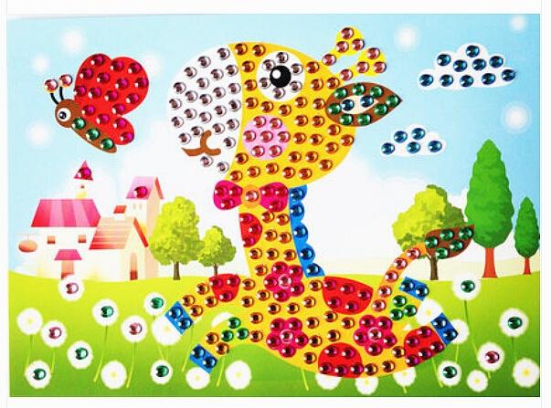 Puzzle mosaïque cristal Poney