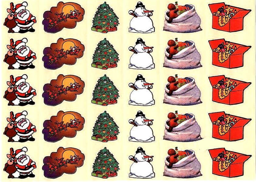 30 belles gommettes de Noel