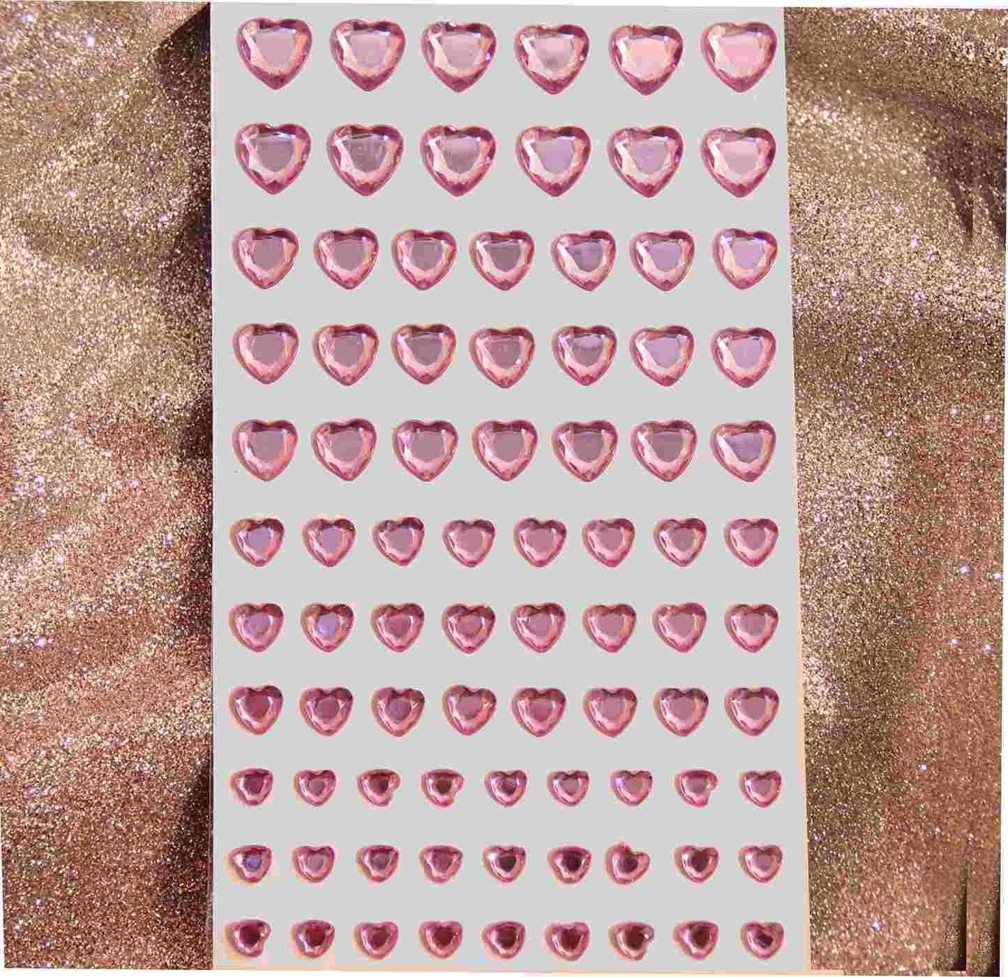 84 strass adhésif cristal rose