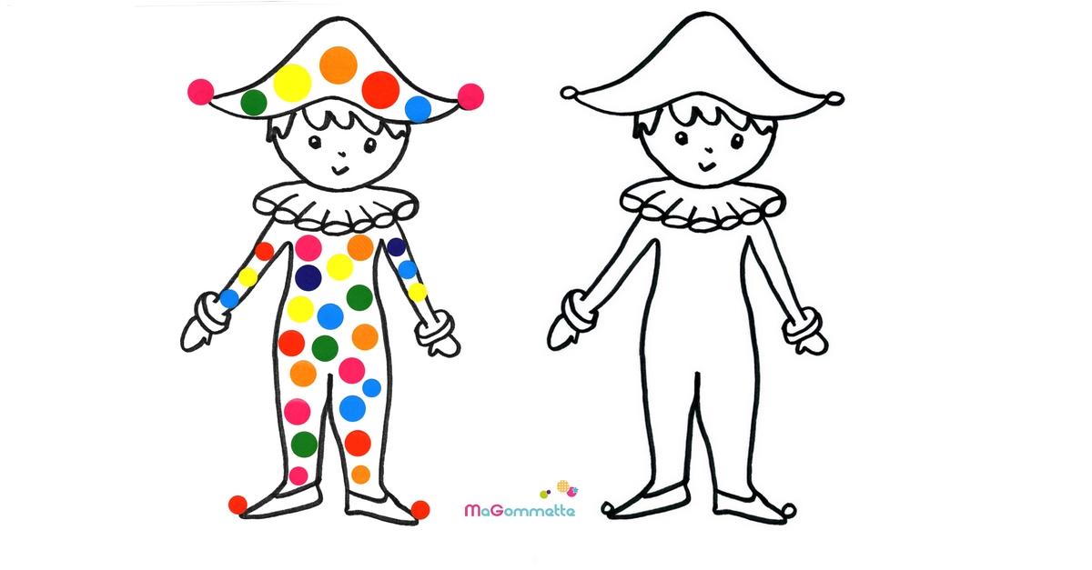 Gut bekannt Coloriage Gommettes à Imprimer Arlequin - Modèles de dessins à  TD61