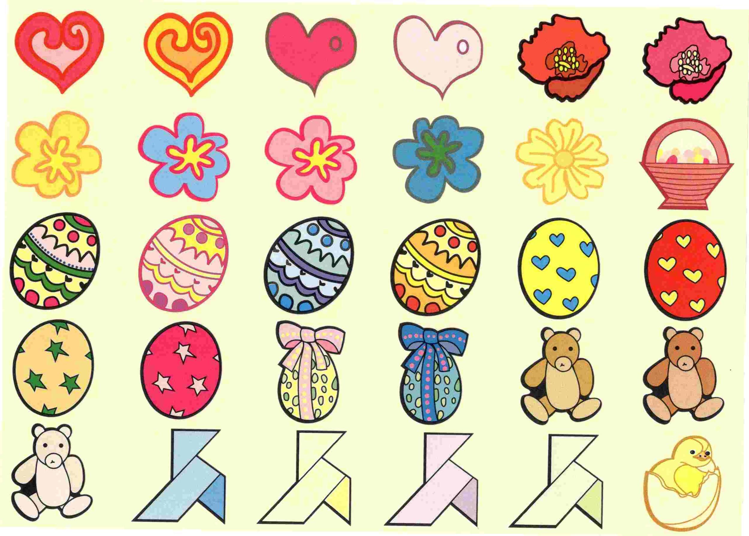 30 Gommettes Oeufs de Pâques