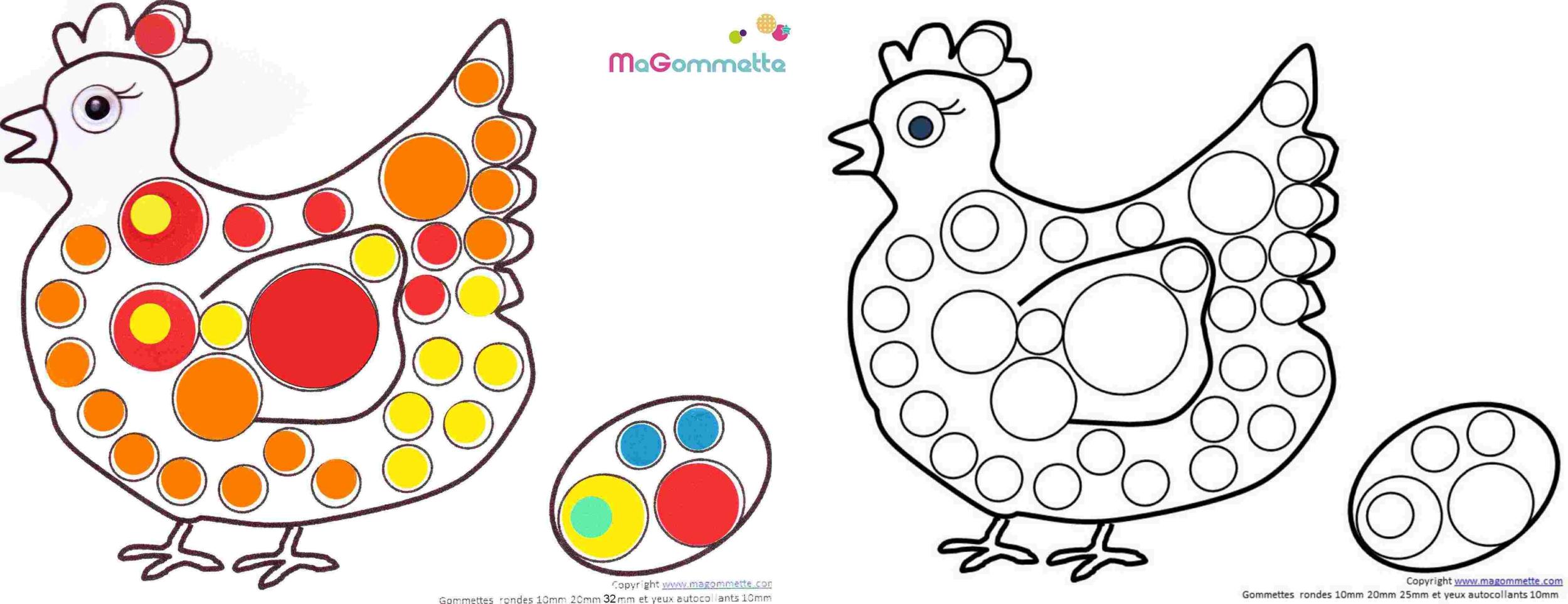 Connu Modèles de dessins à imprimer pour Gommettes - Blog de Ma Gommette YX84