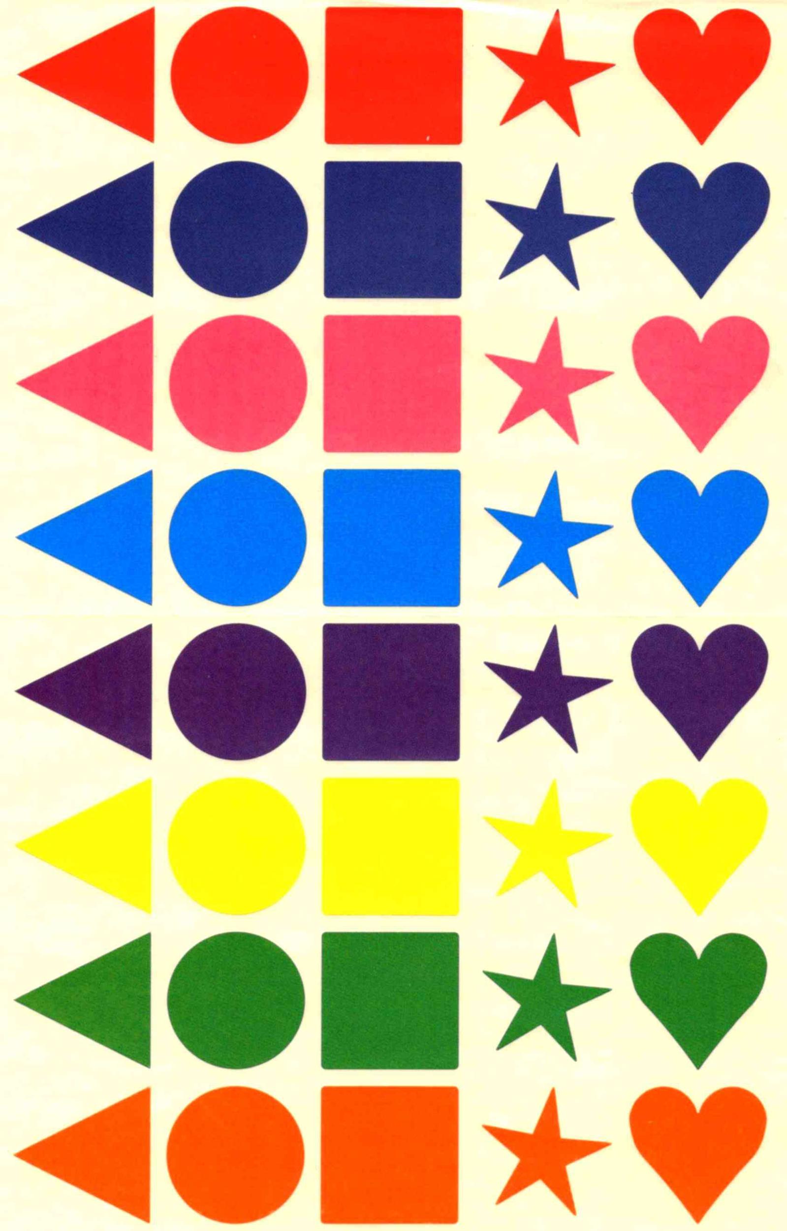 40 Gommettes multicolores géométriques mates 25 mm