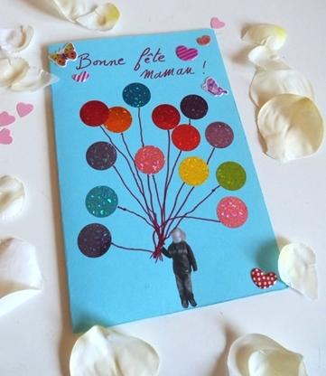 belle carte enfant fete des mere