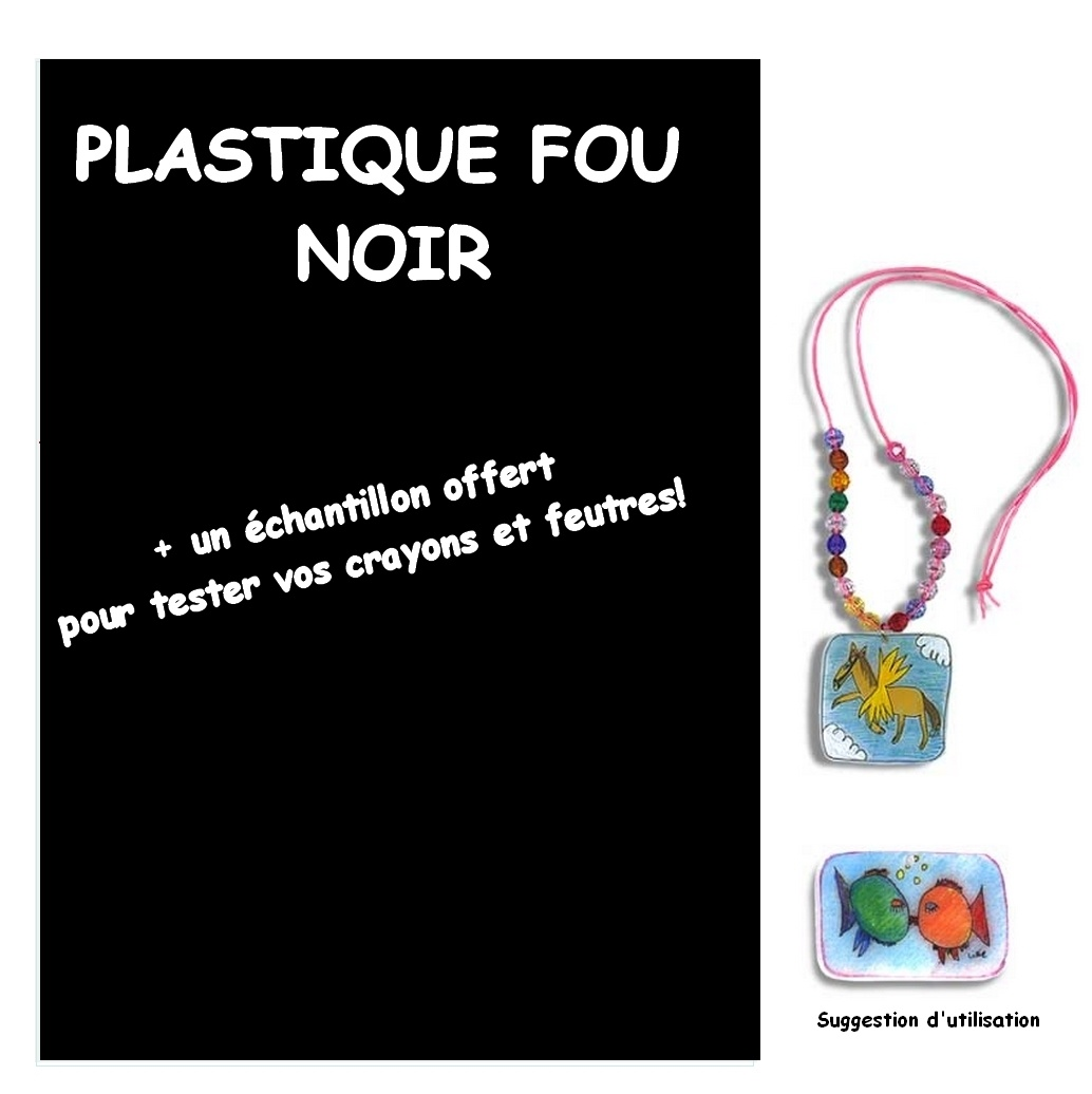 Plastique Fou Noir A4 + 1 Échantillon offert