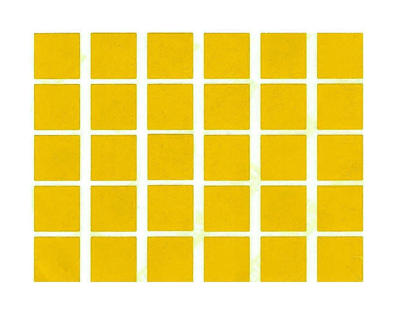 30 gommettes carrées Jaunes