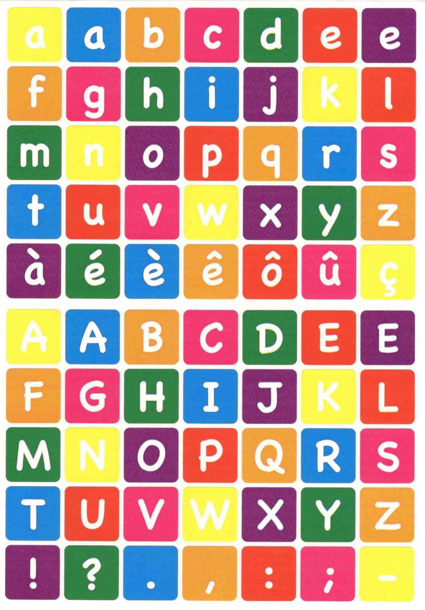 Gommettes alphabet