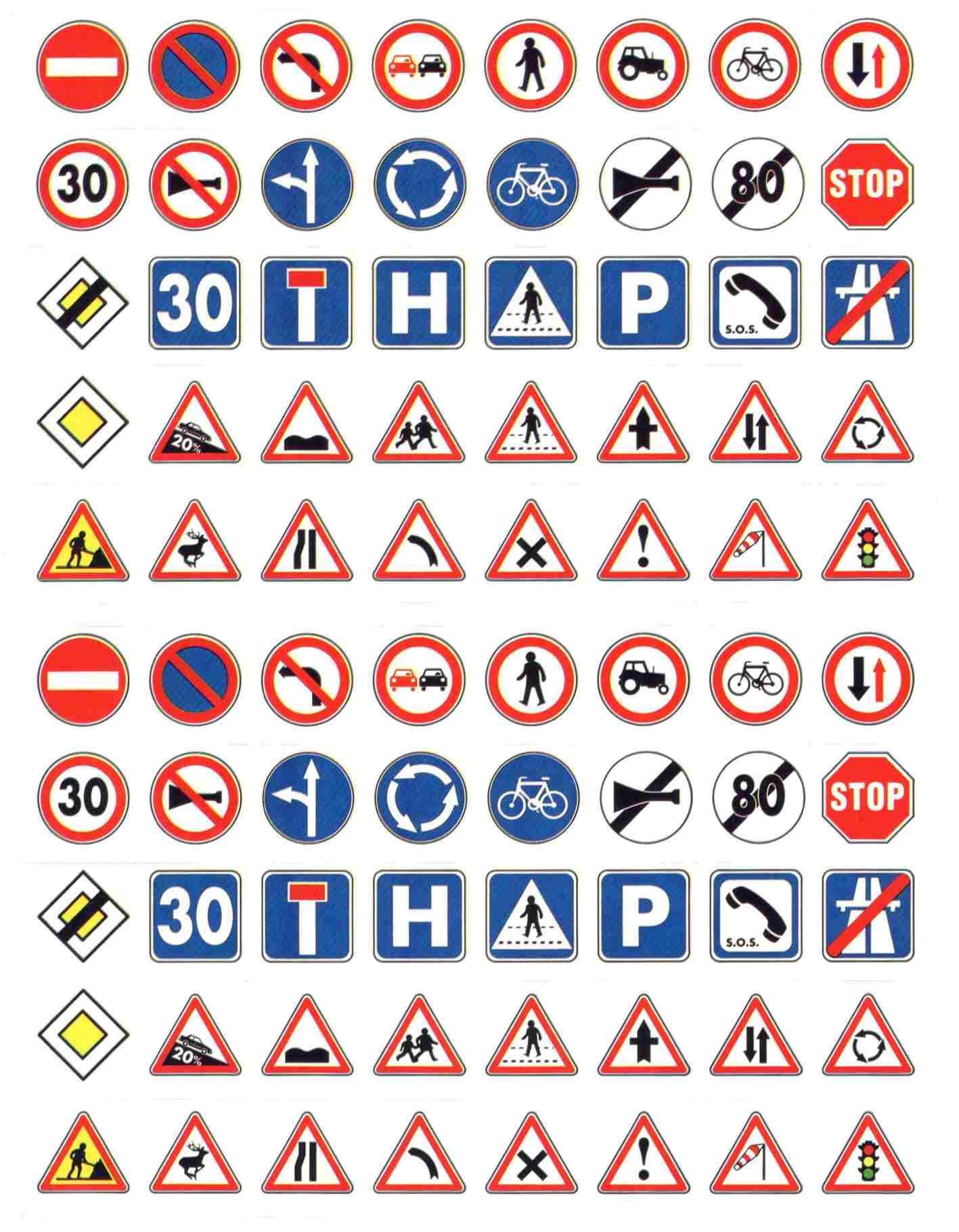80 gommettes Code de la route