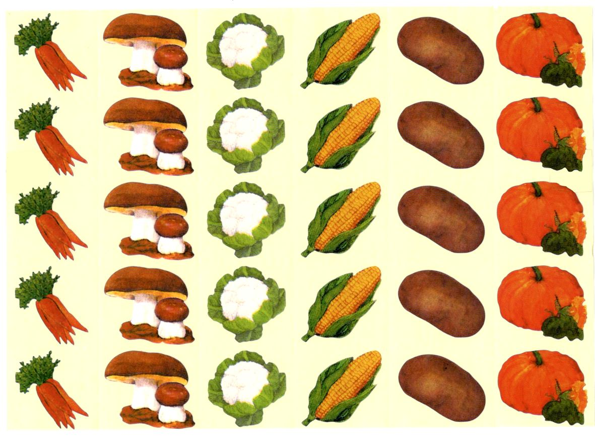 30 gommettes légumes d\'automne