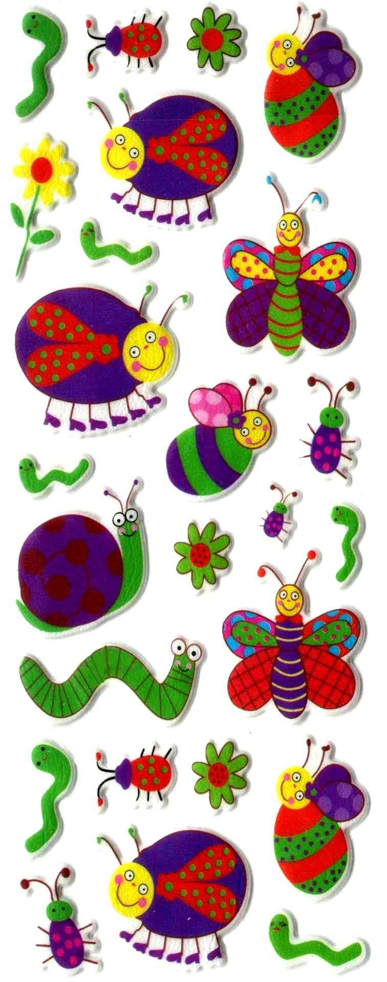 Gommette enfant Insectes trop Mimis!!  3D