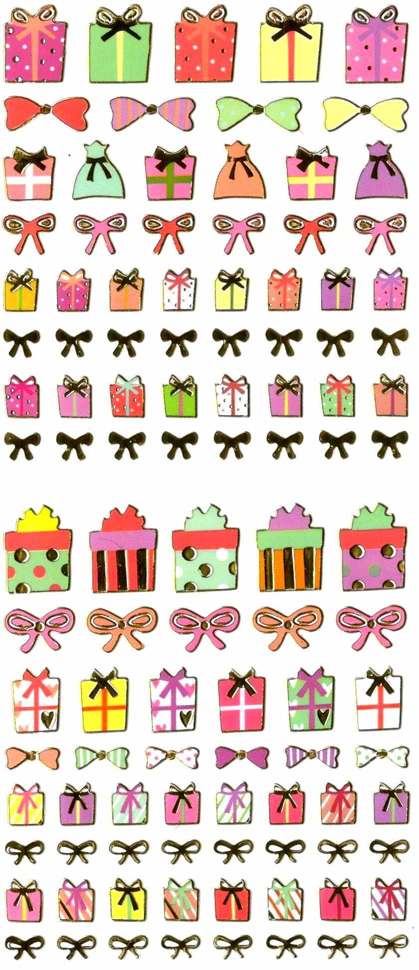 106 stickers Petits Cadeaux