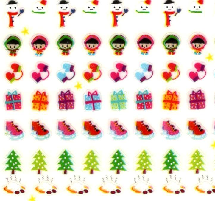 196 mini stickers Hiver et Noël