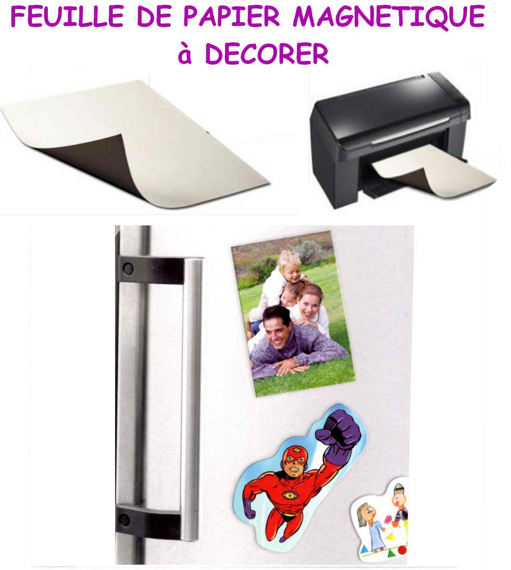 Feuille de papier aimanté magnets à décorer