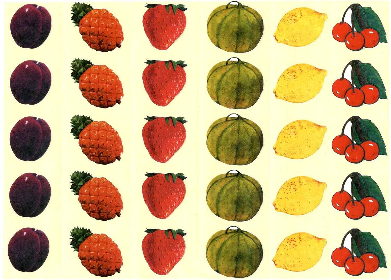 30 Gommettes Fruits Deté