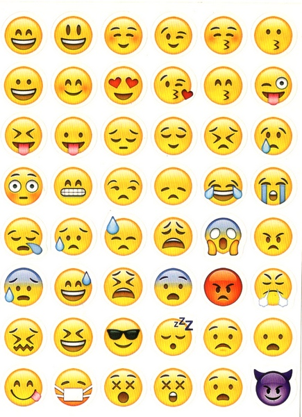 48 stickers Smileys Emojis