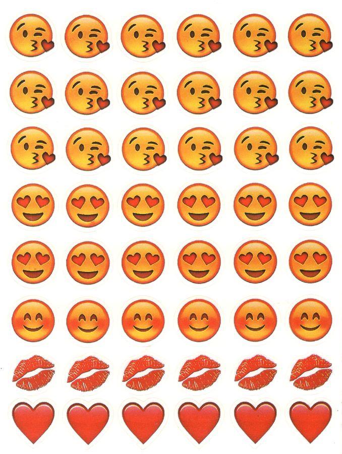 48 Stickers Smileys Love