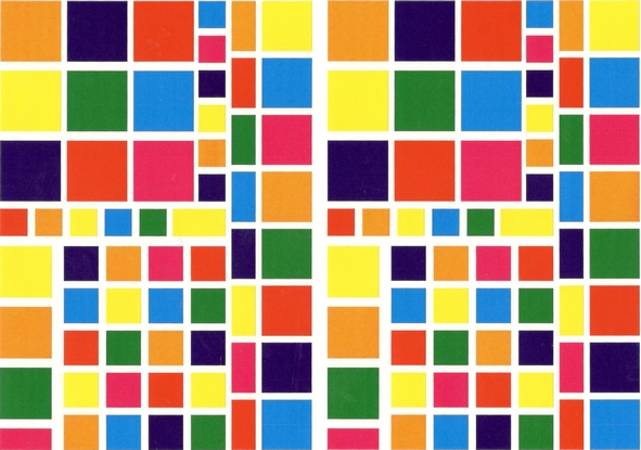 130 carres et rectangles multicolores