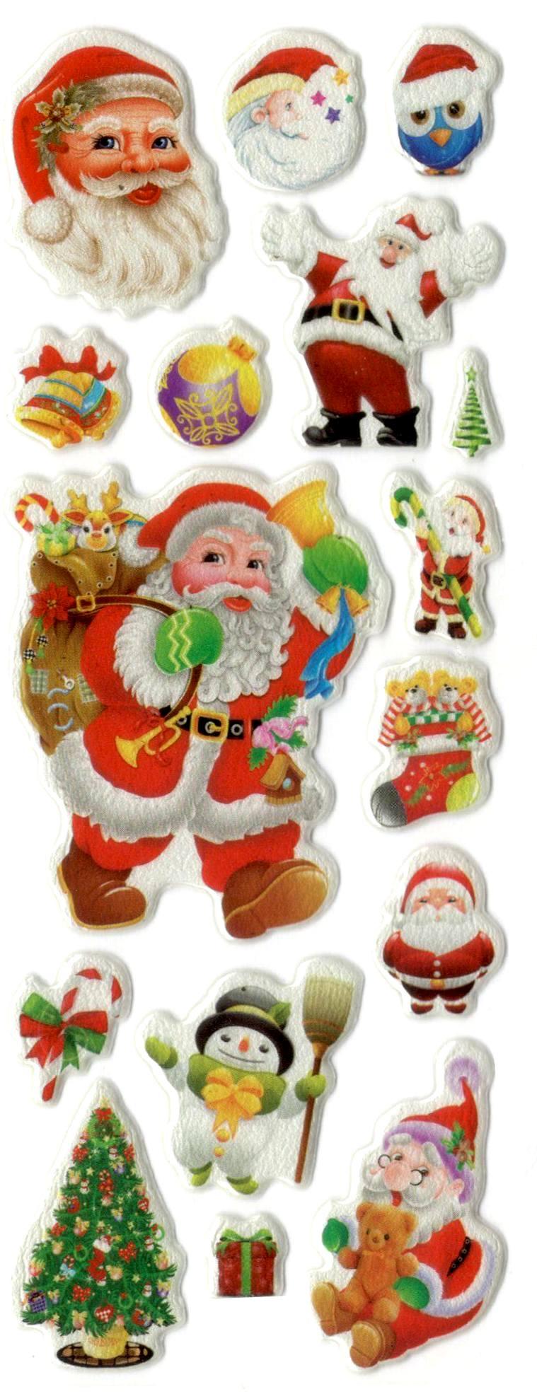 Gommettes de Noël 3D